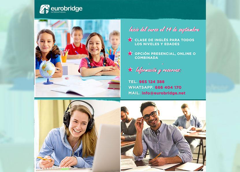 ¡COMIENZA EL CURSO EN EUROBRIDGE! Aprende inglés en Alicante (Presencial y Online)