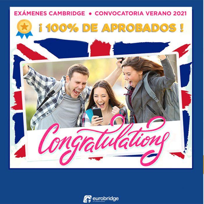 ¡100% de alumnos aprobados en el examen Cambridge!